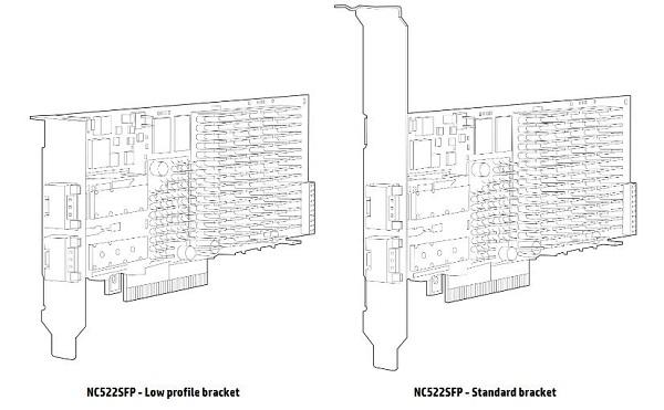 کارت شبکه استوک سرور اچ پی HPE NC522SFP با پارت نامبر 468332-B21
