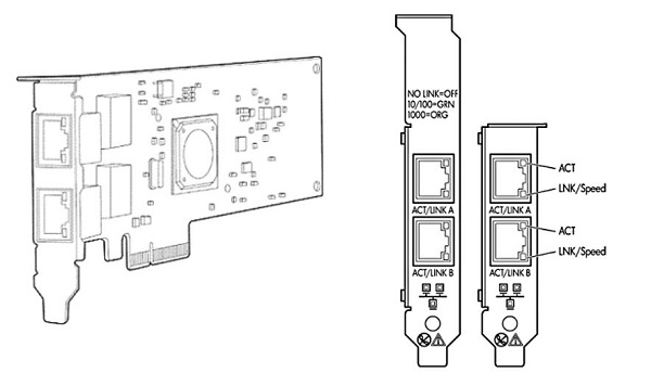 کارت شبکه استوک سرور اچ پی HP NC382T با پارت نامبر 458492-B21