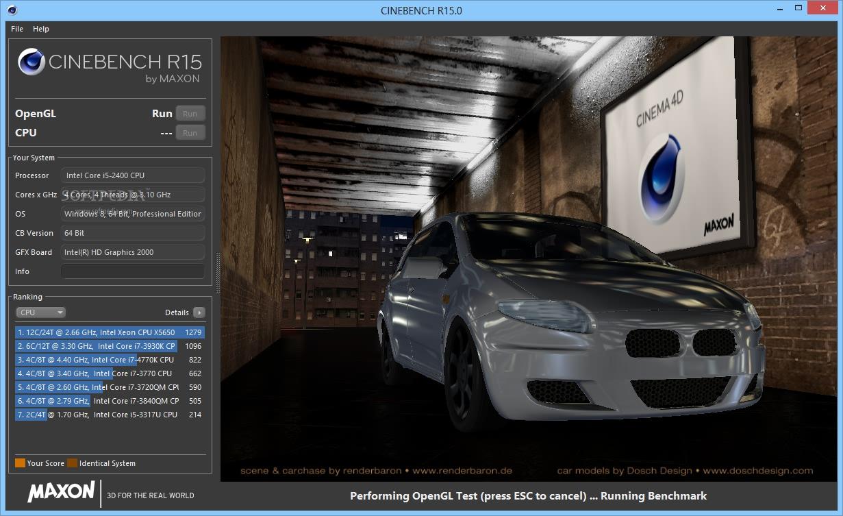دانلود: CineBench R15 نرم افزاری برای سنجش پایداری و قدرت پردازنده