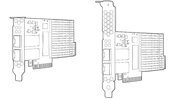 کارت شبکه سرور اچ پی مدل HP NC523SFP 10Gb 2-port با پارت نامبر 593717-B21