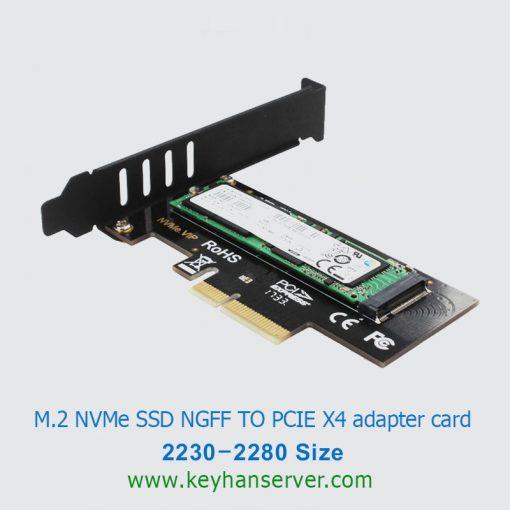 کارت مبدل M.2 NVME به PCI-E روش RoHS 2280