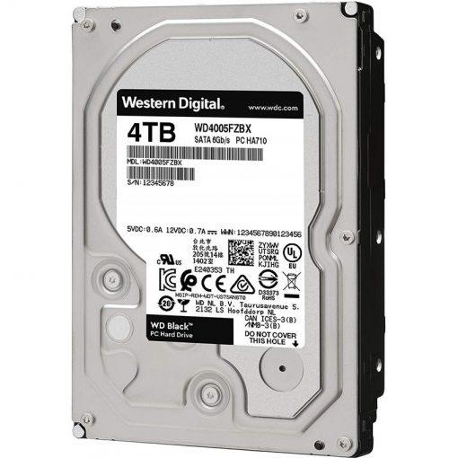 هارددیسک اینترنال وسترن دیجیتال مدل Black WD4005FZBX ظرفیت 4 ترابایت