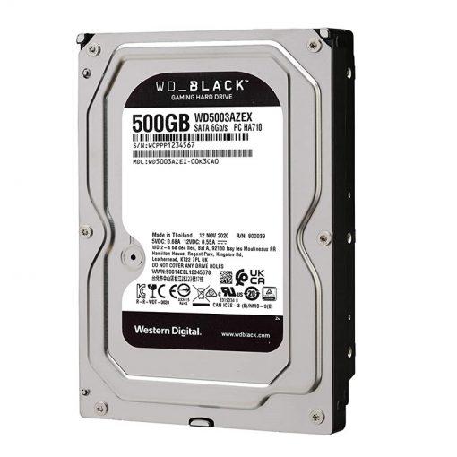 هارددیسک اینترنال وسترن دیجیتال مدل Black WD5003AZEX ظرفیت 500 گیگابایت