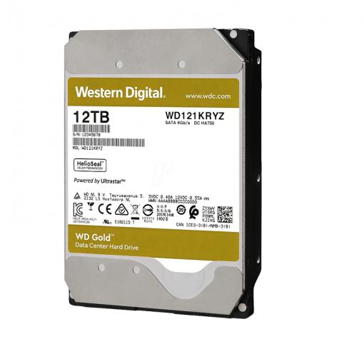 هارددیسک اینترنال وسترین دیجیتال GOLD WD121KRYZ ظرفیت 12 ترابایت
