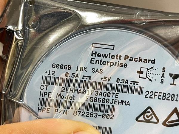 هارددیسک اچ پی HP 600GB 10K RPM 6G SAS SFF با پارت نامبر 872283-002