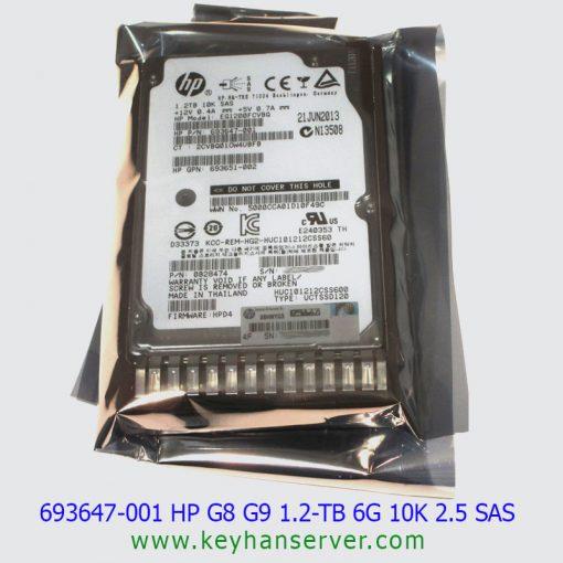 هاردHP G8 G9 1.2TB 6G 10K 2.5 SAS پارت نامبر 697574-B21